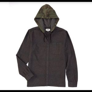 NWT Billabong Baja Hooded Button Down Flannel - S